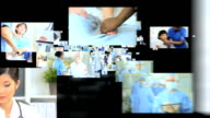 3D fly through Multi ethnic doctors treating patient video