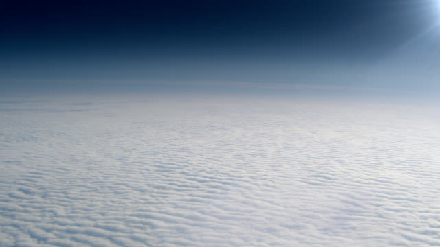 Flying above clouds video