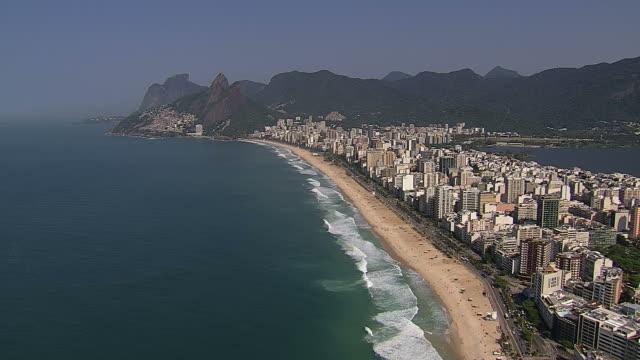 Flying above Ipanema Beach, Rio de Janeiro video