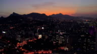 Flying above Rio de Janeiro at Night with famous Carioca Aqueduct, Brazil video