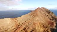 flying above Sao Lourenco peninsula, Madeira, aerial view video