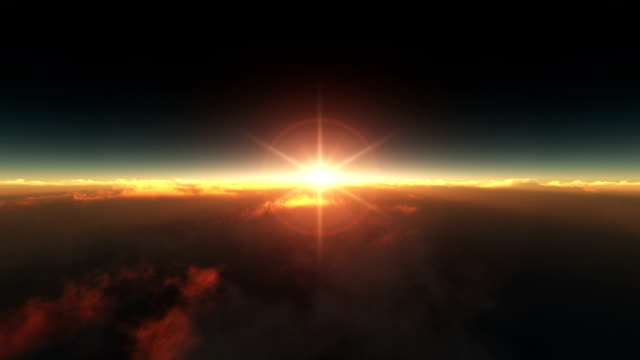 flying above the clouds sunrise video