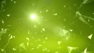 Flying Abstract Shapes Background Animation video