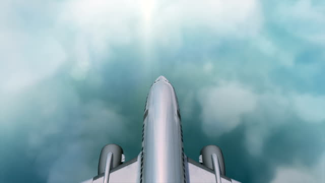 Flying Aircraft above the beautiful cloudy sky video