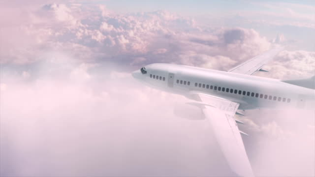Flying Aircraft above the beautiful sky video