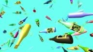 Flying bottles video