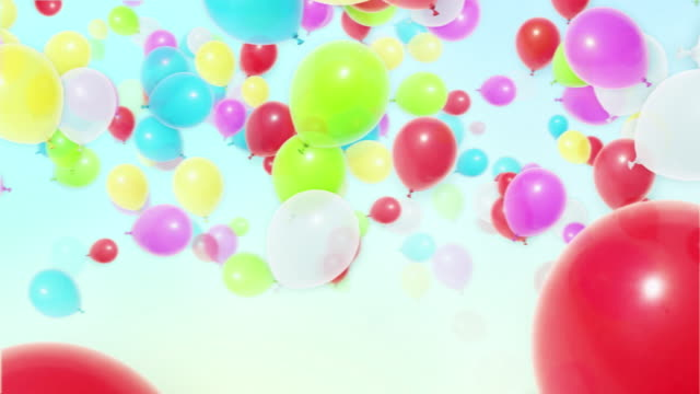Flying colorful Balloons video