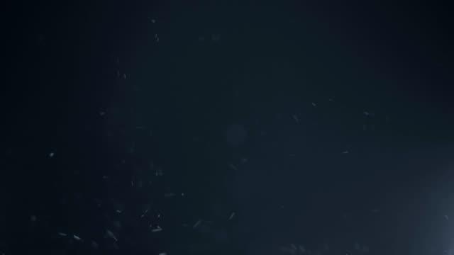 Flying dust particles sealess loop video