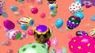 Flying easter eggs video