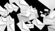 Flying envelopes in white video