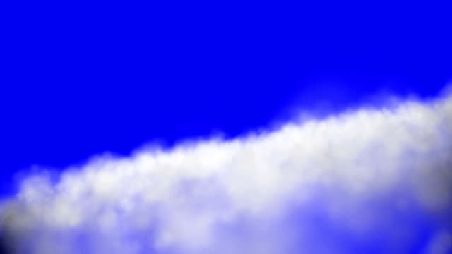 Flying Fast Above Clouds on a Blue Screen Background video
