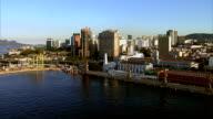 Flying from bay to city,  Rio de Janeiro, Brazil video