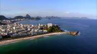 Flying from Ipanema to Copacabana Beach, Rio de Janeiro, Brazil video