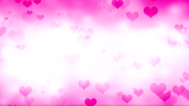 Flying Hearts Valentine's Day Abstract Background video