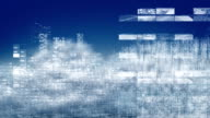 Flying in the information clouds. Loopable. video