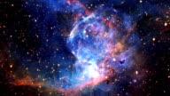 Flying into a beautiful nebula animation video