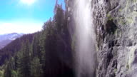AERIAL: Flying into the waterfall video