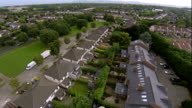 flying low over housing estate in Ireland video
