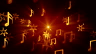 flying musical notes loopable background video