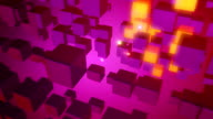 Flying Orange And Pink 3D Cubes In Space video