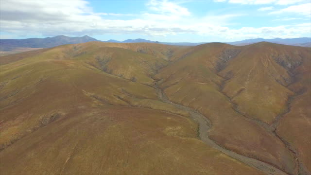AERIAL: Flying over amazing volcanoes and picturesque volcanic landscape video