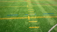 Flying Over an Outdoor Synthetic Football Field video