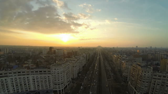 Flying Over Bucharest video