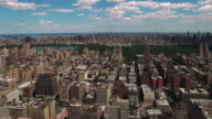 Flying Over Buildings From Upper Westside Towards Central Park video