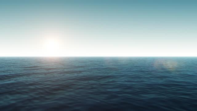 Flying Over Calm Ocean video