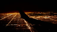 Flying over City at Night video
