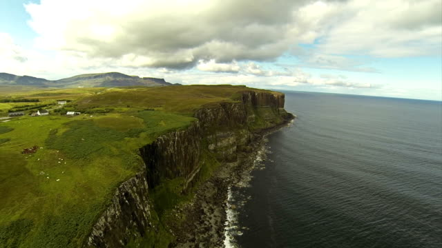 Flying over cliffs in Isle of Skye video