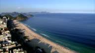 Flying over Copacabana Beach,  Rio de Janeiro, Brazil video