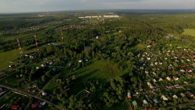 Flying over dacha communities in Russia video