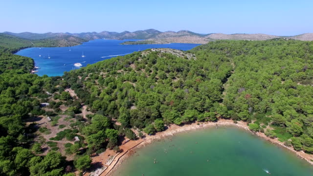 Flying over Dalmatian islands and a famous lake video