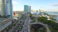 Flying over Downtown Miami video