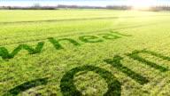 Flying over farmland video