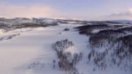 Flying over frozen landscape video