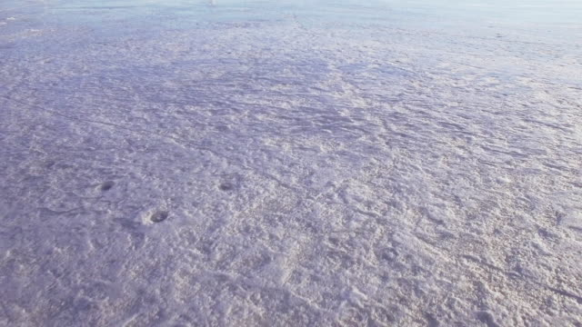 Flying over ice in spring video