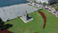 Flying over Izmir Republic Square video