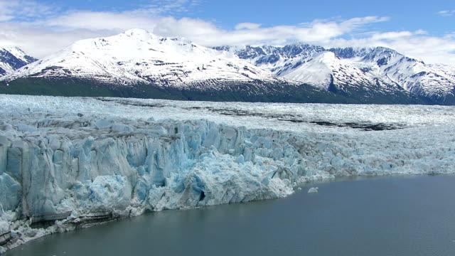 Flying over lake and glacier, Alaska video