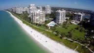 Flying over Marco Island Florida video