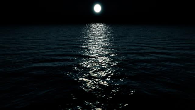 Flying over ocean at Night video