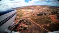 Flying over oil tanks in San Tome, Venezuela video