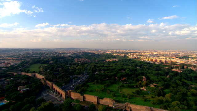 Flying over Rome to the Coliseum - Aerial View - Latium, Rome, Italy video