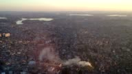Flying over Sao Paulo. Flying over large metropolitan latin south american city video