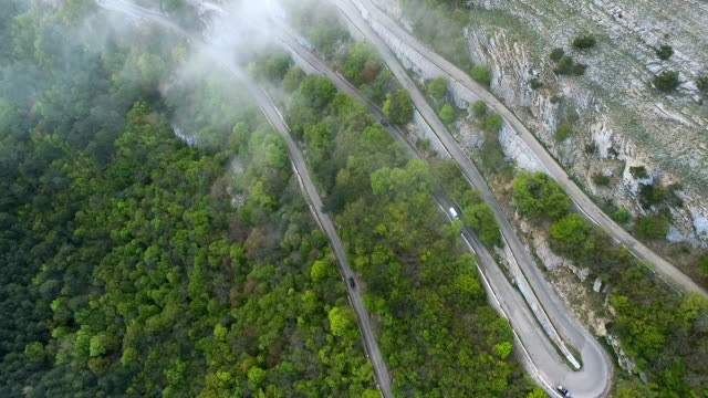 Flying Over Serpentine Road video