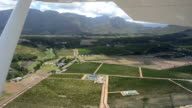 Flying over Stellenbosch and winelands in South Africa video