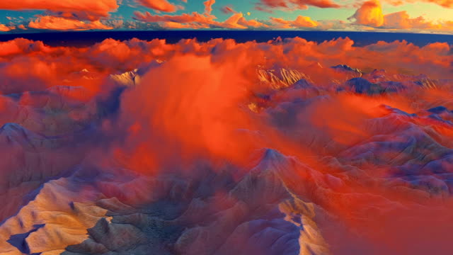 Flying over the clouds and mountains video