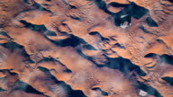 Flying over the earth on the ISS. Flying over desert, aerial view from space. video
