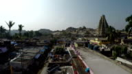 Flying over the Indian village of Hampi. video